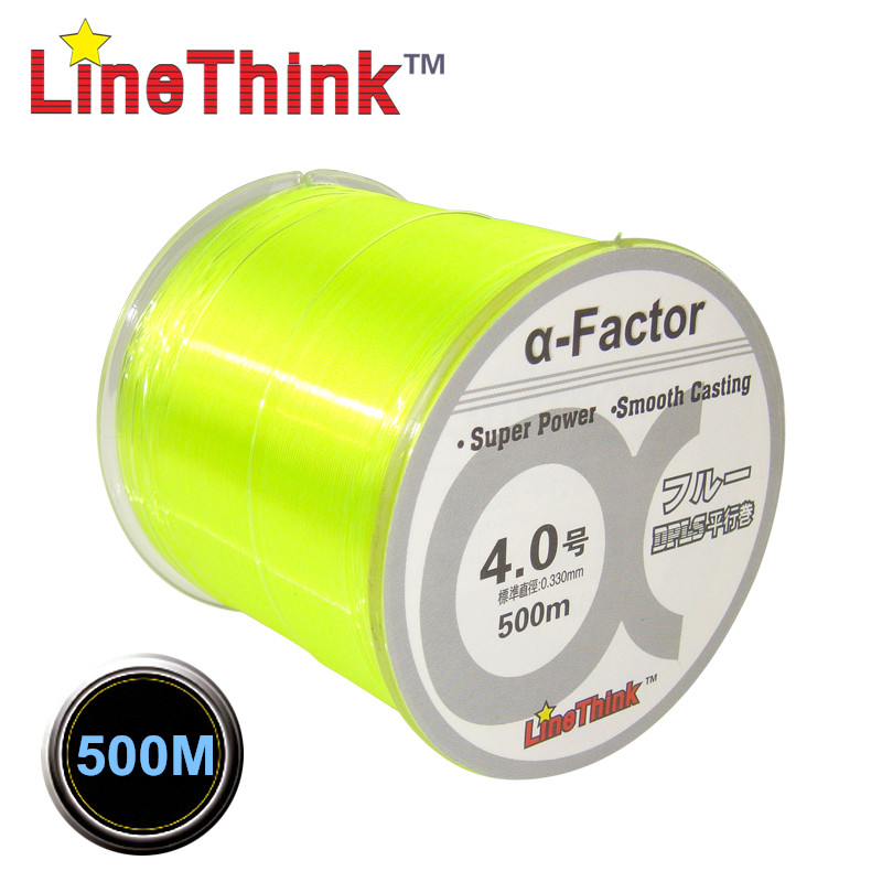 0 370mm Diameter 500M Colorful Nylon Monofilament Fishing
