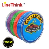 300M GHAMPION LineThink Brand 8Strands Multifilament PE Braided Fishing Line